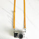Yellow - Skinny Leather Camera Strap - Avaloncraftsg