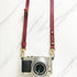 Wine Red - Skinny Leather Camera Strap