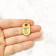 Gold - Indoor Cat - Tiny Pet Tag - Avaloncraftsg
