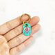 Turquoise Blue - Heart Paw - Tiny Pet Tag