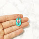 Turquoise Blue - Heart Paw - Tiny Pet Tag - Avaloncraftsg