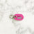 Hot Pink - Flamingo - Tiny Pet Tag - Avaloncraftsg