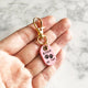 Petal Pink - Double Paws - Tiny Pet Tag - Avaloncraftsg