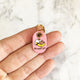 Petal Pink - Cat in a Box - Tiny Pet Tag