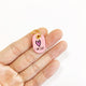 Petal Pink - Hot Pink Heart - Tiny Pet Tag