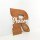 Custom Cut Wooden Initial Name Sign - Avaloncraftsg