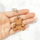 Wooden Engraved Teddy Bear Shape Keychain - Avaloncraftsg