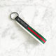 Stripe Keychain Strap - Red, White, Green - Avaloncraftsg
