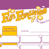 Fun Fortunes - Answer Sheets