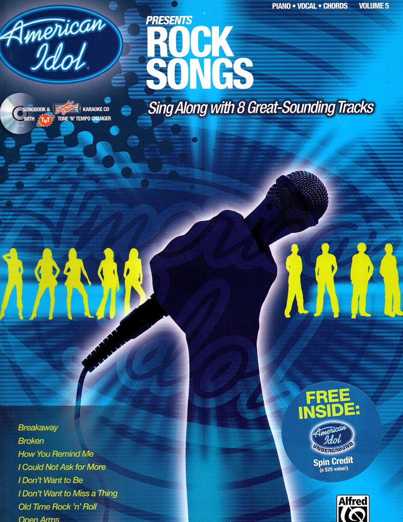 American Idol Presents Rock Songs (with CD) Vol. 5