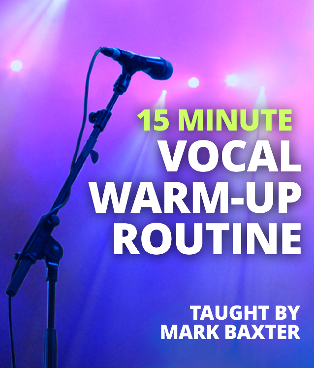 15 Minute Vocal Warm-Up Routine for Male and Female Voice by Mark Baxter (MP3)