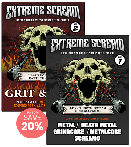 Extreme Scream Vocal Lessons 1 & 2 Bundle (MP3)