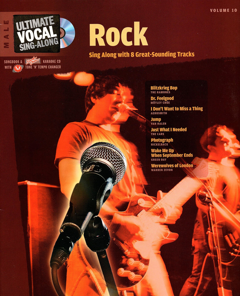 Ultimate Vocal Sing-Along: Rock Volume 10 (with CD)