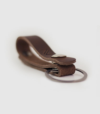 Crescent Key Leather