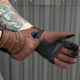 BILTWELL Belden Gloves - Chocolate/Black