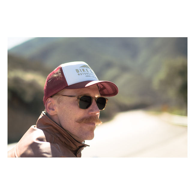 BSMC X INDIAN MOTORCYCLE FOAM CAP - BURGUNDY