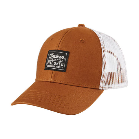 BSMC X INDIAN MOTORCYCLE PATCH CAP TAN