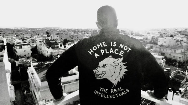 HOME IS NOT A PLACE - COACH JACKET - BLACK / WHITE