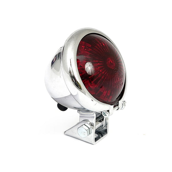 BATES STYLE LED TAILLIGHT - Chrome / Red