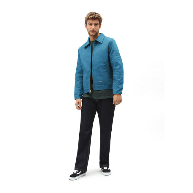 DICKIES - LINED EISENHOWER JACKET - CORAL BLUE