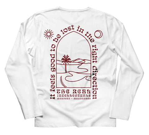 It feels good to be lost - Long sleeve - White / Brown