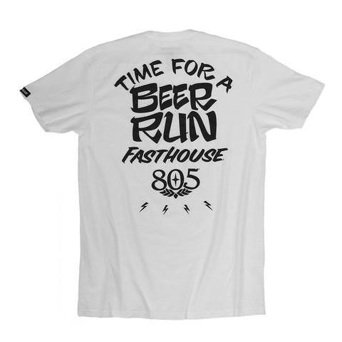 Fasthouse 805 Beer Run Tee - White