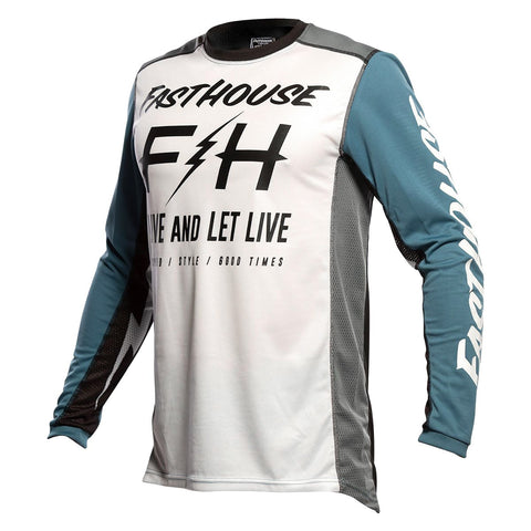 Fasthouse Clyde Jersey - White/Slate