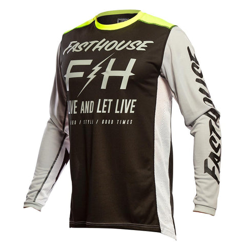 Fasthouse Clyde Jersey - Black/Silver