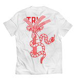 TRI HOPE - TEE - WHITE / RED