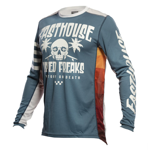 FASTHOUSE - JERSEY GRINDHOUSE SWELL SLATE/WHITE