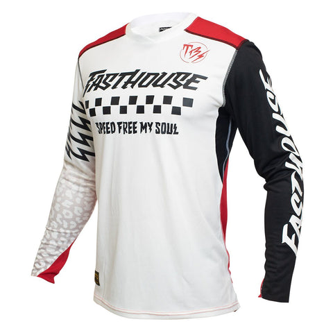 Fasthouse Raven Bereman Jersey - Cream/Red