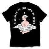 DISCIPLES OF THE GOD OF SPEED - BLACK - TEE
