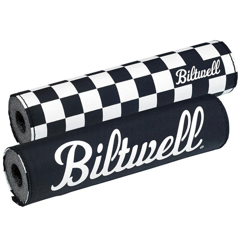 BILTWELL Moto Bar Pad - Checkers / Script Black