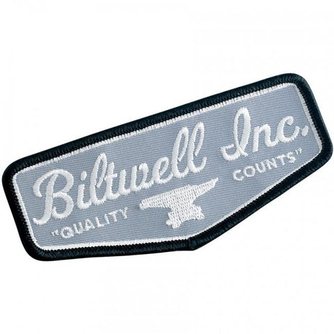 BILTWELL SHIELD PATCH - BLACK/GREY/WHITE