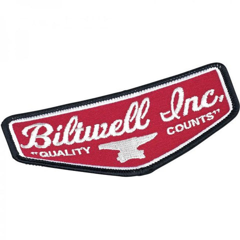 BILTWELL SHIELD PATCH - BLACK/RED/WHITE