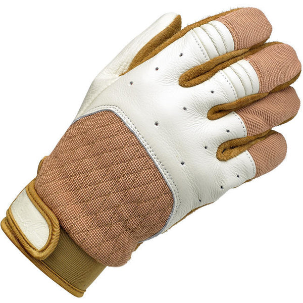 BILTWELL BANTAM GLOVES - WHITE / TAN