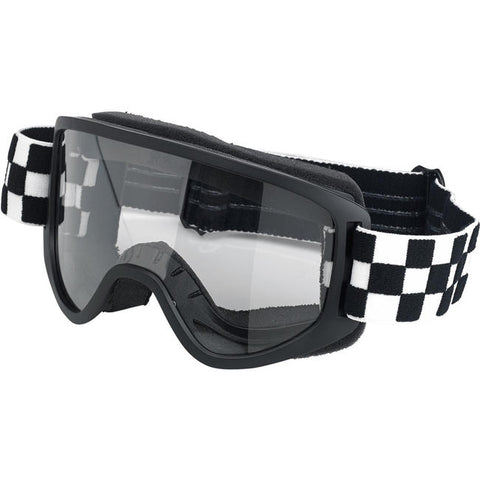 BILTWELL MOTO 2.0 GOGGLE - CHECKERS BLACK
