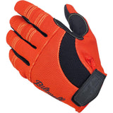 BILTWELL MOTO GLOVES - ORANGE/BLACK/YELLOW