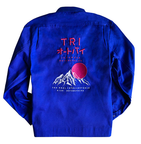 TRI JAPAN - EMBROIDERED WORKWEAR JACKET - ROYAL BLUE