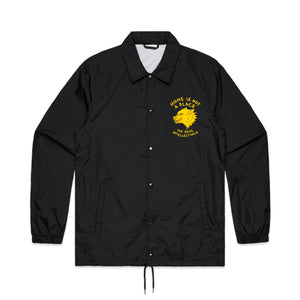 HOME IS NOT A PLACE - COACH JACKET - BLACK / YELLOW