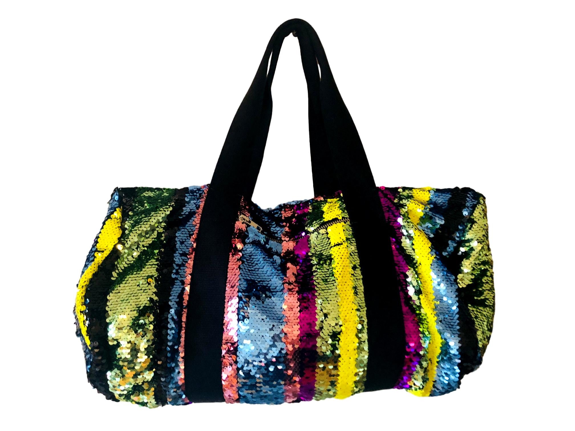 80 Stripes sequins Bag