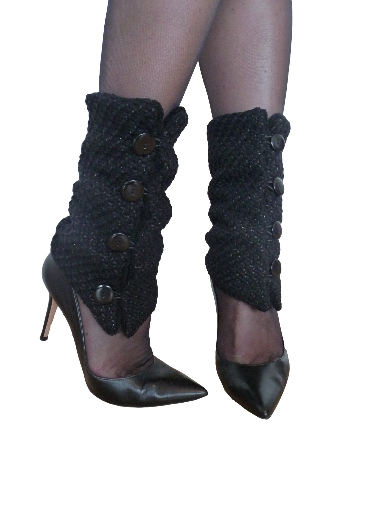 Black and Shine Leg Warmers
