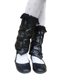 Black Fringes Leg Warmers