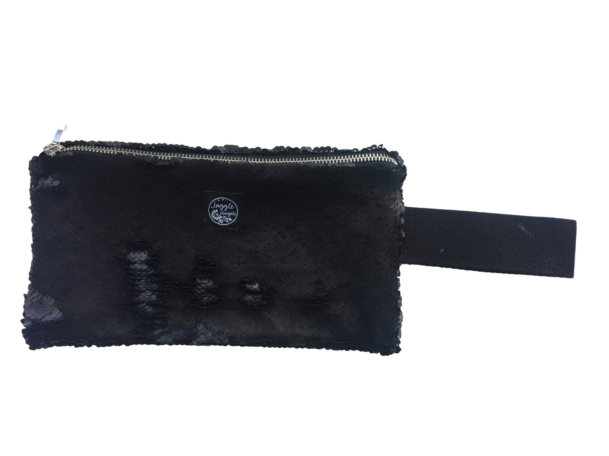 Black Sequins Clutch Bag