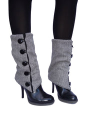 Black Tweed Leg Warmers