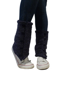 Blue Buckle Leg Warmers