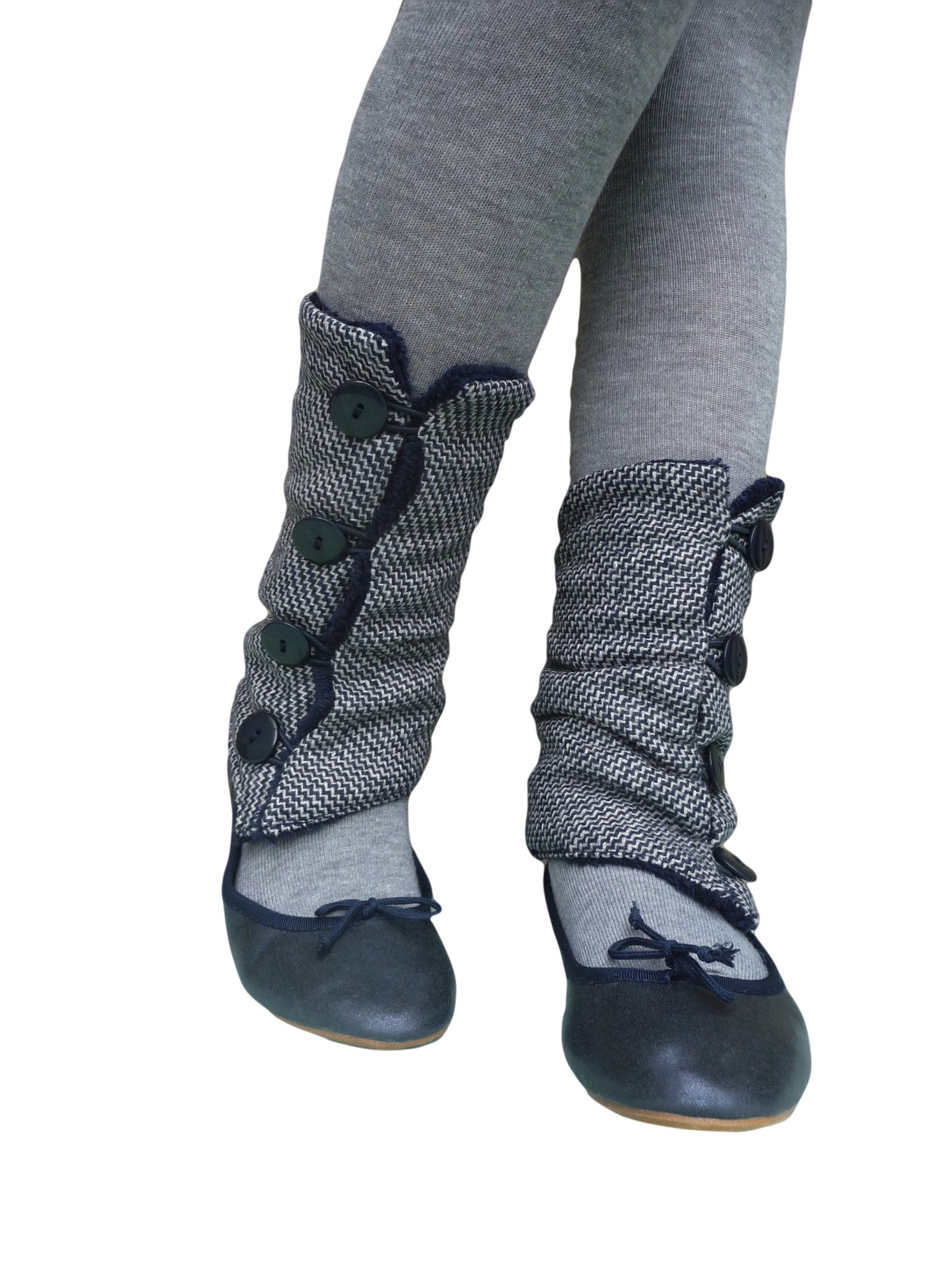 Blue Tweed Leg Warmers
