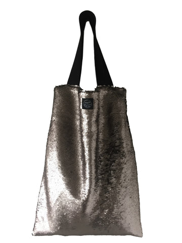 Champagne sequins Square Bag