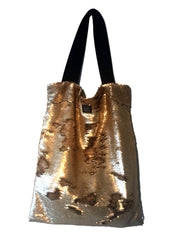 Gold sequins Square Bag