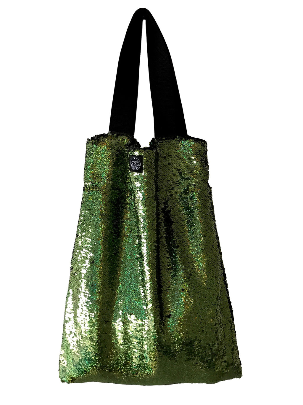 Green sequins Square Bag